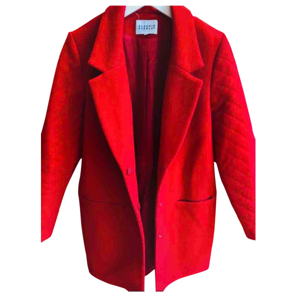 Claudie Pierlot Red Wool Coat