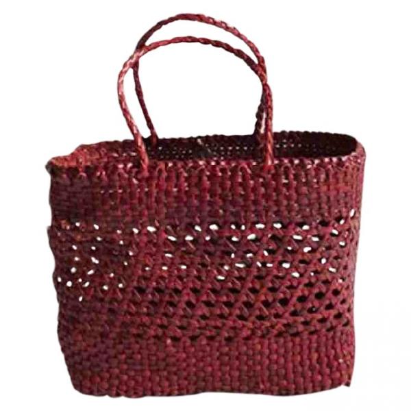 Dragon Diffusion Burgundy Wicker Handbag