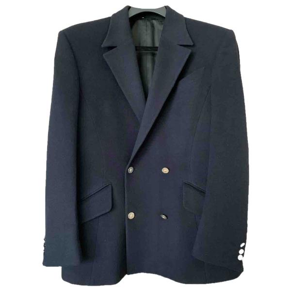 Mugler Navy Wool Jacket