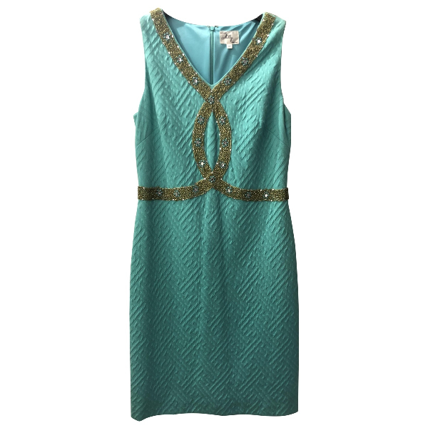Milly Turquoise Cotton Dress