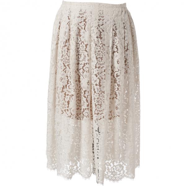 Roseanna White Cotton Skirt
