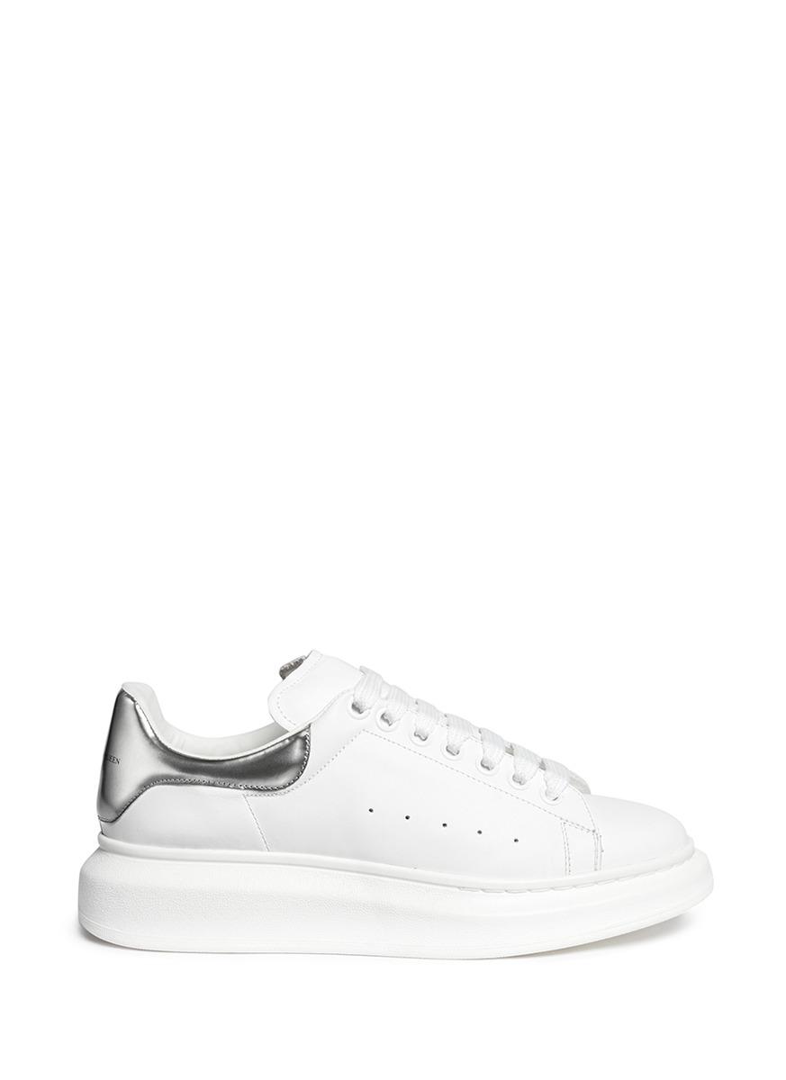 6c4125ec762d Alexander Mcqueen Leather Lace-Up Platform Sneaker