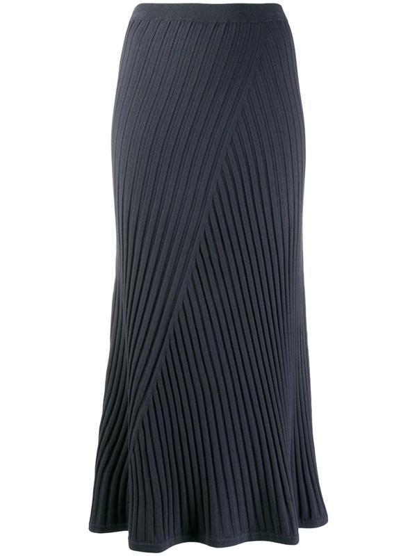 Filippa K Fay Ribbed Skirt In Blue
