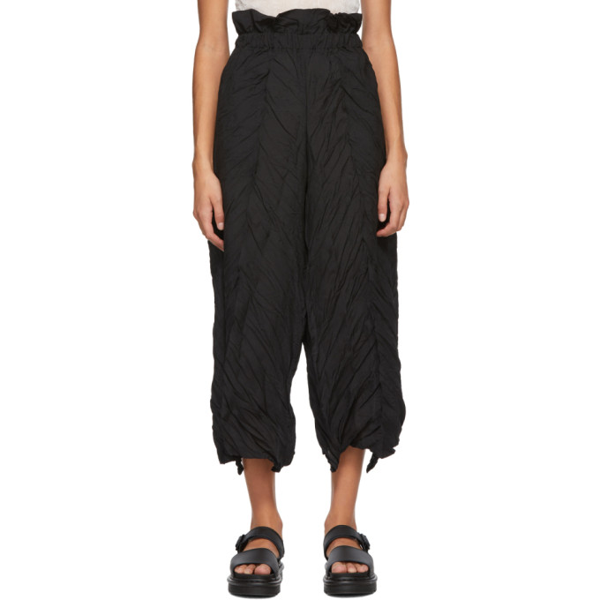 Issey Miyake Women's Tectorum Pleated Culotte Pants In 15 Black