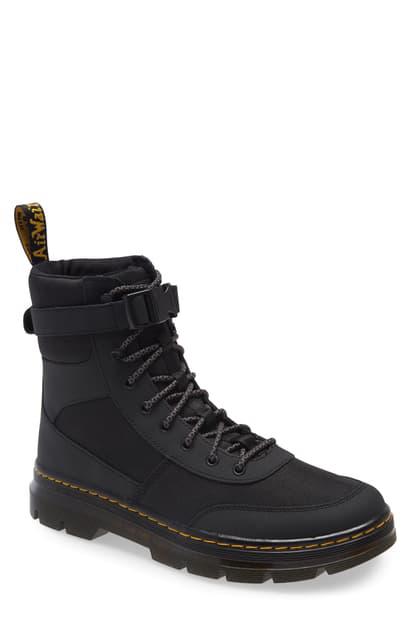 Dr. Martens Men's Tract Combs Tech Combat Boots In Black