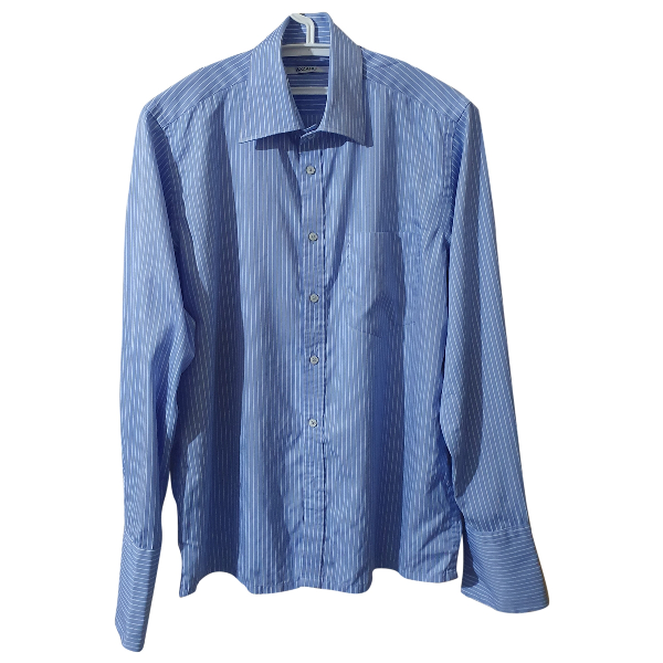 Azzaro Blue Cotton Shirts