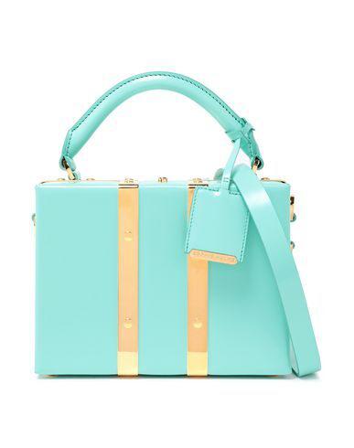 Sophie Hulme Handbag In Turquoise