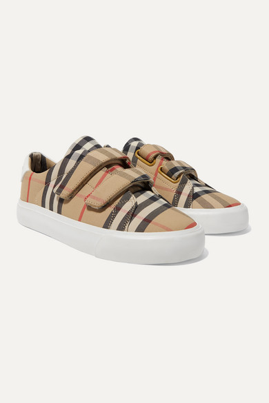 Burberry Unisex Markham Vintage Check Low-top Sneakers - Toddler, Little Kid In Beige