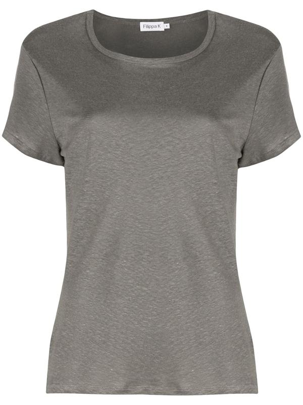 Filippa K Hazel Round Neck T-shirt In Grey