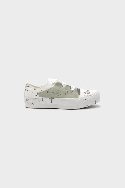 Needles Paint Splattered Low-top Sneakers In White