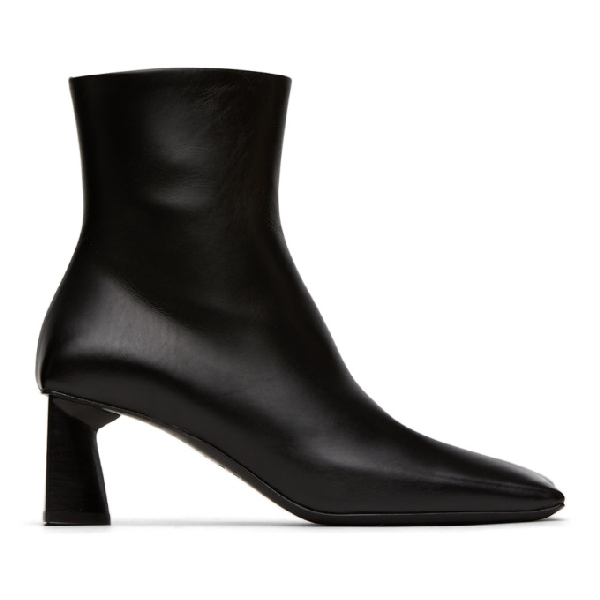 Balenciaga 60mm Moon Leather Ankle Boots In 1000 Black