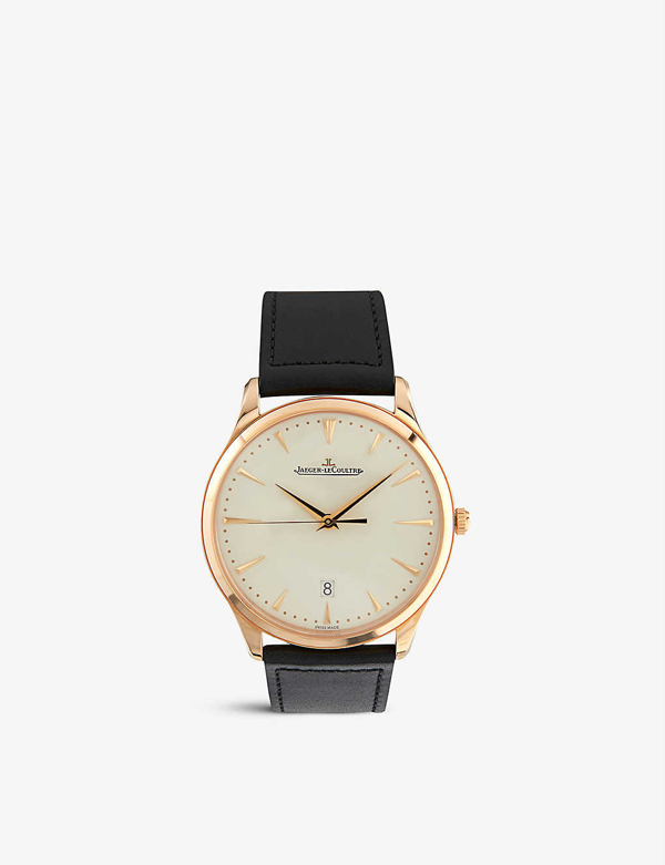 Jaeger-lecoultre 1282510 Master Grande 18ct Rose-gold And Calfskin-leather Watch
