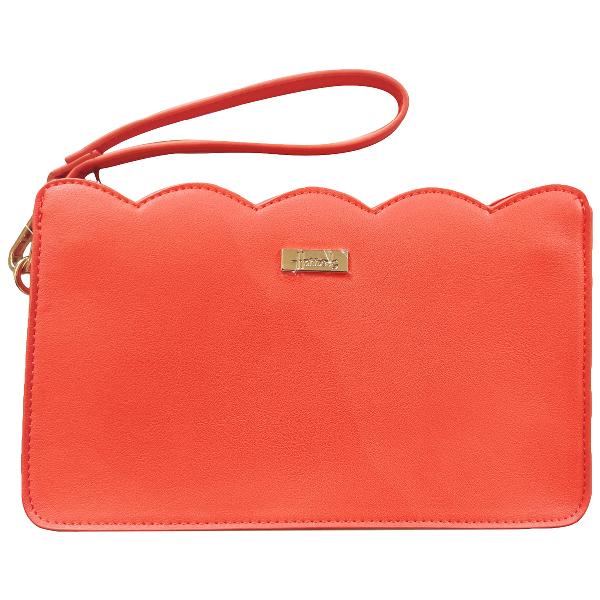 Harrods Orange Patent Leather Clutch Bag