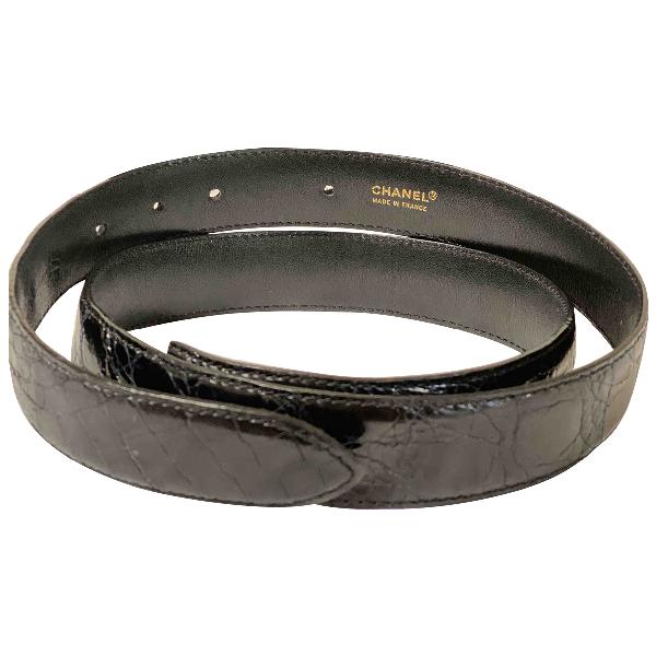 Chanel Black Python Belt