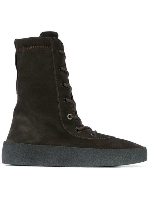 e6b32454a42 Yeezy Suede Lace Up Boots