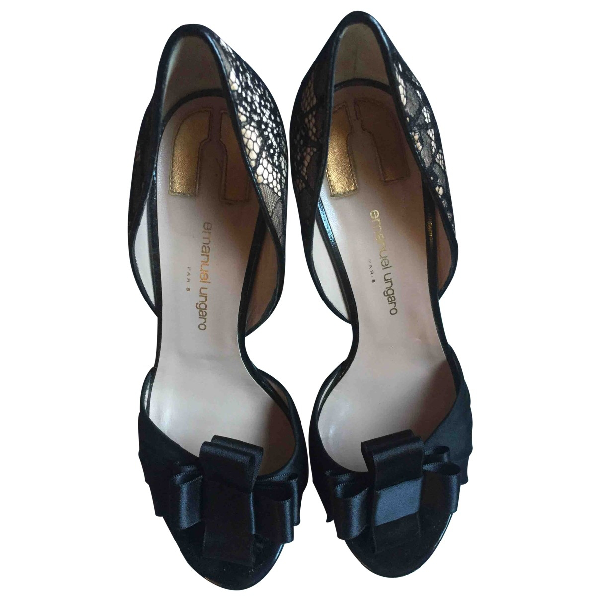 Emanuel Ungaro Black Patent Leather Heels