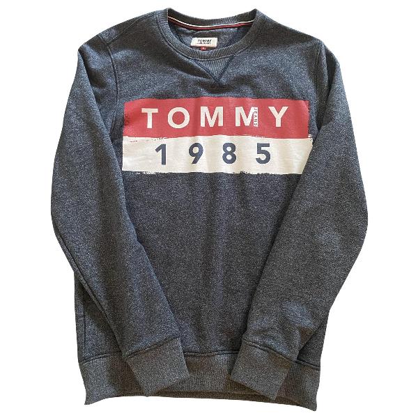 Tommy Hilfiger Anthracite Cotton Knitwear & Sweatshirts