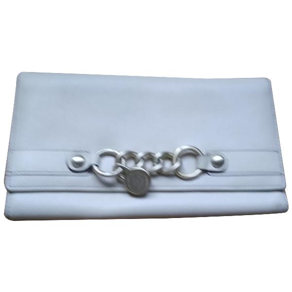 Lancel 1er Flirt Ecru Leather Clutch Bag