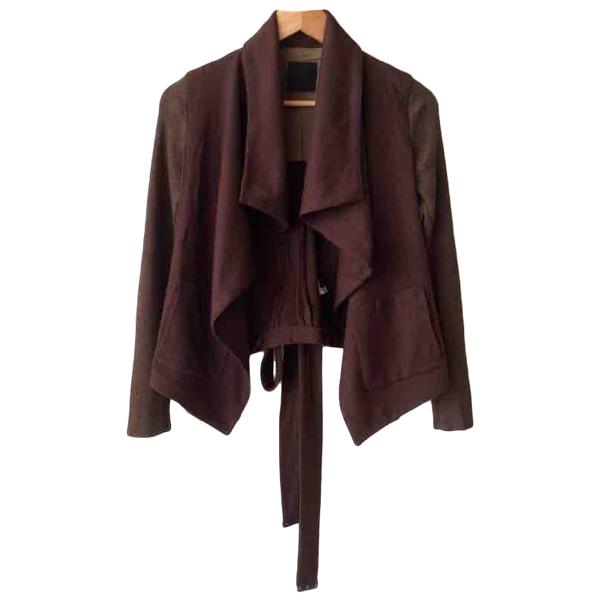 Pinko Brown Wool Jacket