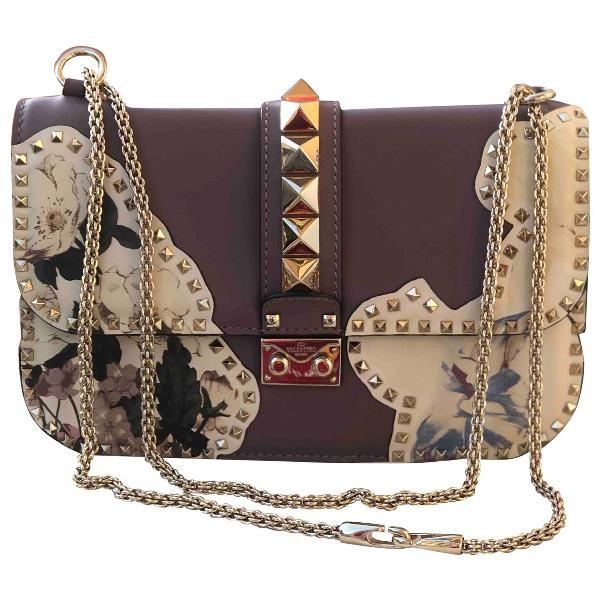 Valentino Garavani Glam Lock Multicolour Leather Handbag