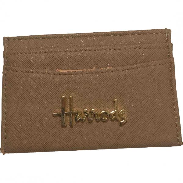 Harrods Beige Leather Purses, Wallet & Cases
