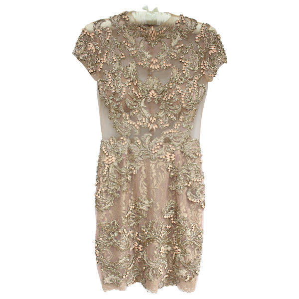 Harrods Gold Lace Dress