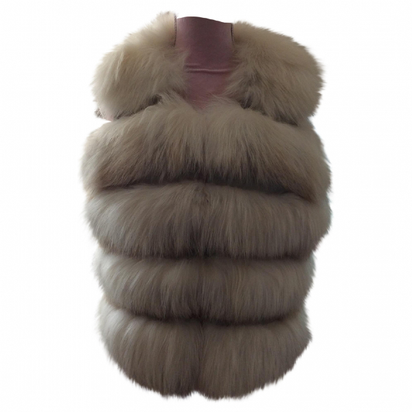 Harrods Ecru Fur Coat