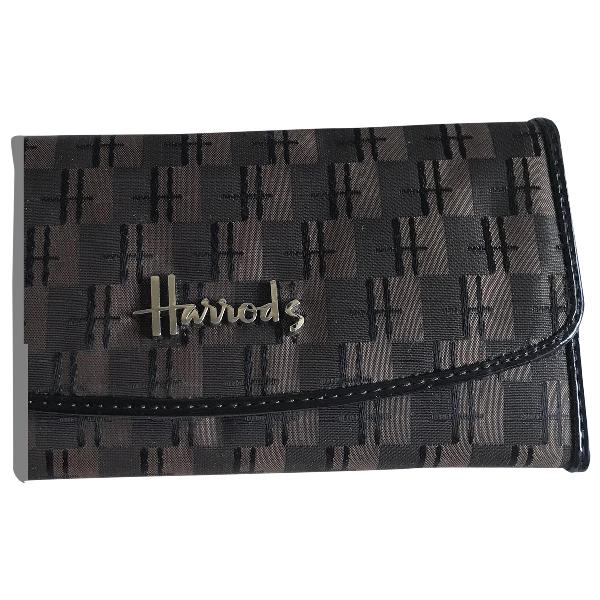 Harrods Brown Cloth Wallet