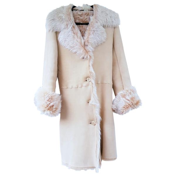 Harrods Beige Shearling Coat