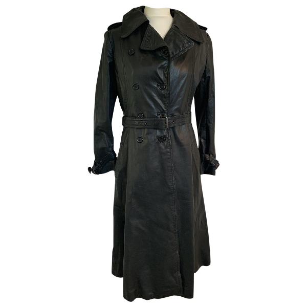 Harrods Black Leather Coat
