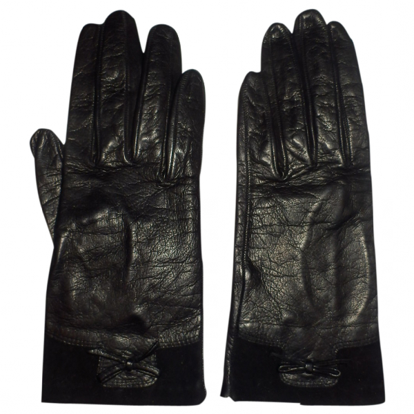 Harrods Black Leather Gloves