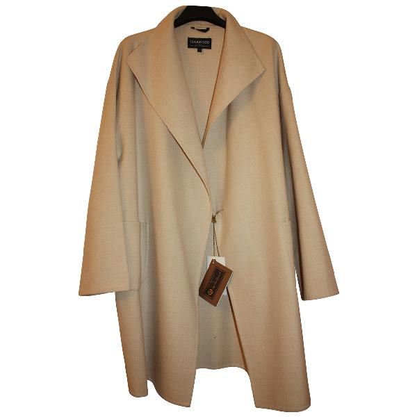 Harrods Beige Wool Coat