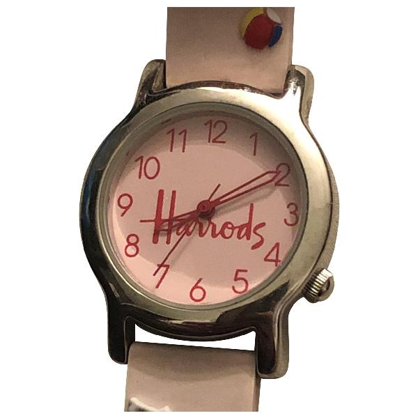 Harrods Pink Steel Watch