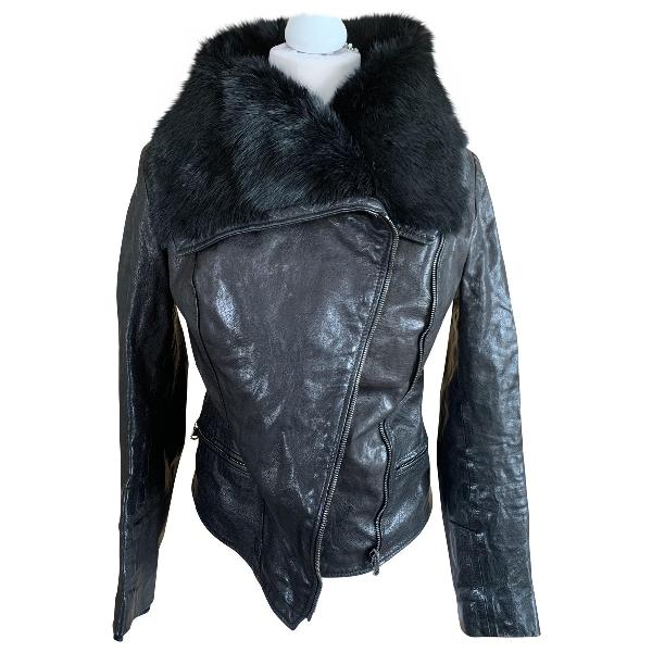 Harrods Black Leather Jacket