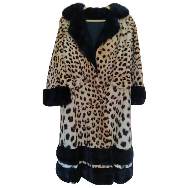 Harrods Yellow Fur Coat