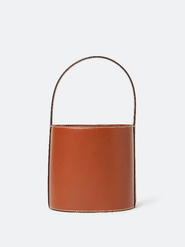 Staud Bissett Mini Bucket Bag In Tan