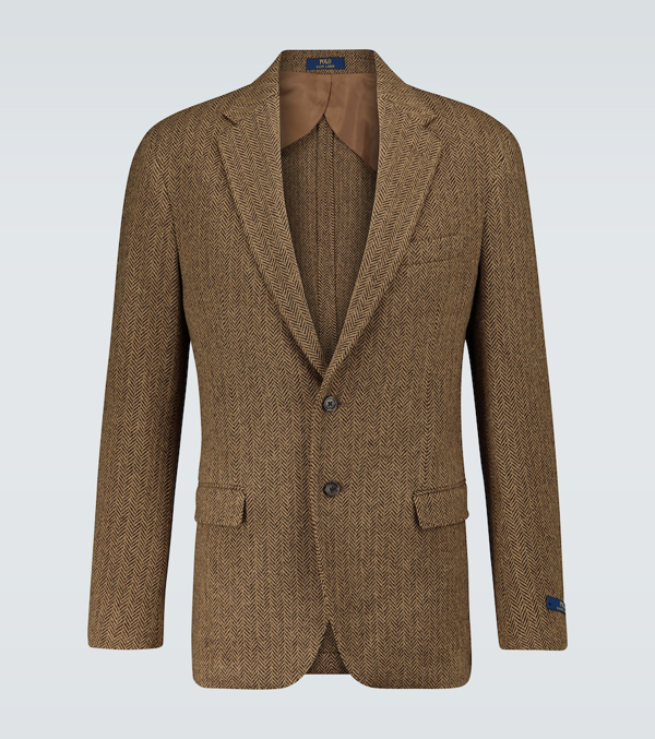 Polo Ralph Lauren Single-breasted Wool-blend Blazer In Brown