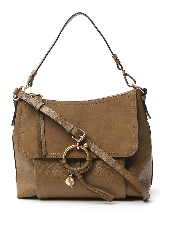 See By ChloÉ See By Chloe Joan Small Leather & Suede Shoulder Bag In Brown
