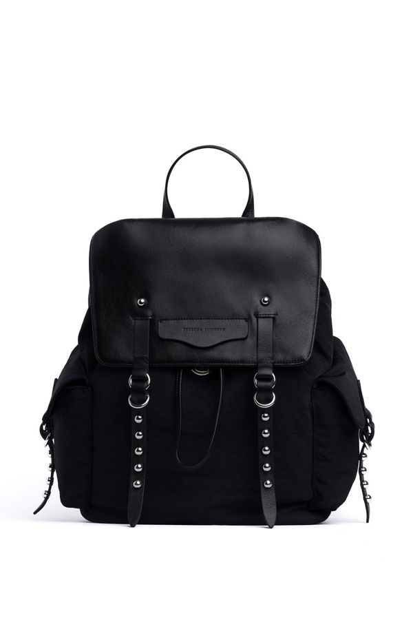 Rebecca Minkoff Bowie Leather & Nylon Backpack In Black