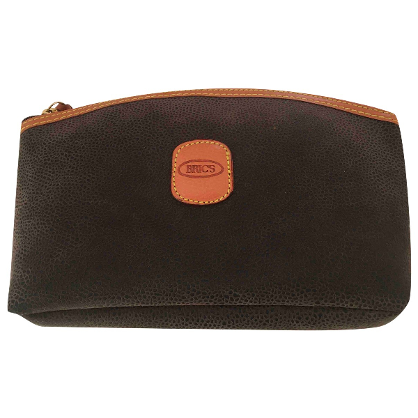 Bric's Brown Leather Clutch Bag