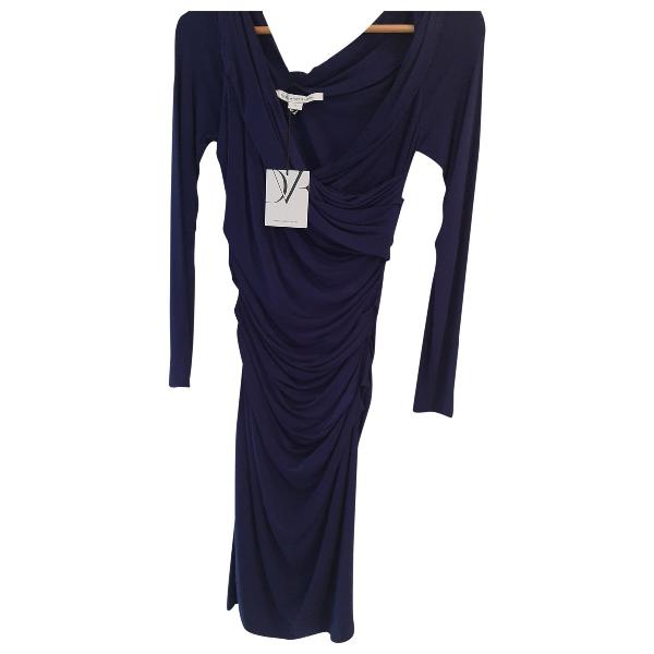 Diane Von Furstenberg Purple Cotton Dress