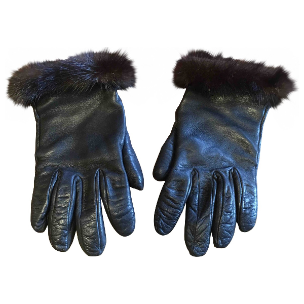 Harrods Brown Leather Gloves