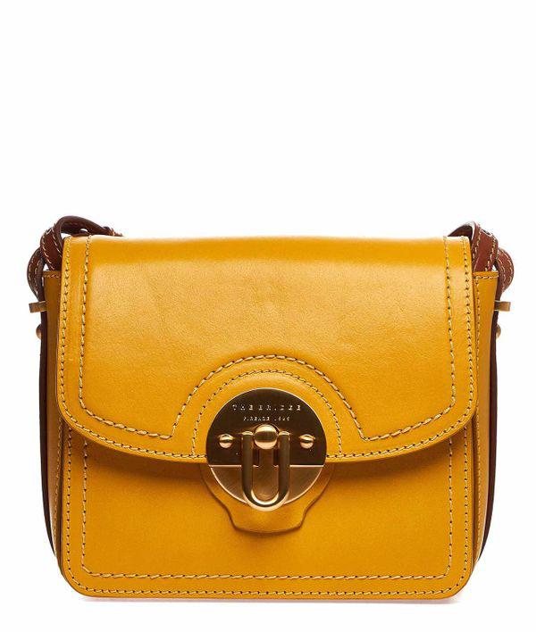 The Bridge Crossbody Bag In Leather In Yellow