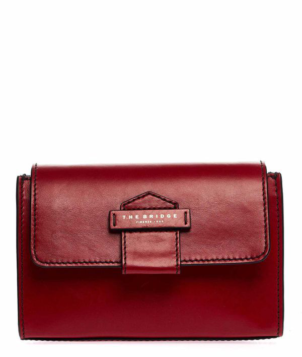 The Bridge Crossbody Bag In Leather In Red