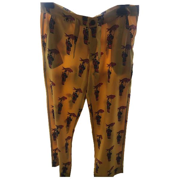 Chufy Yellow Silk Trousers