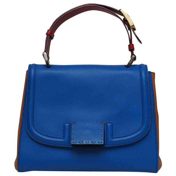 Fendi Silvana Blue Leather Handbag