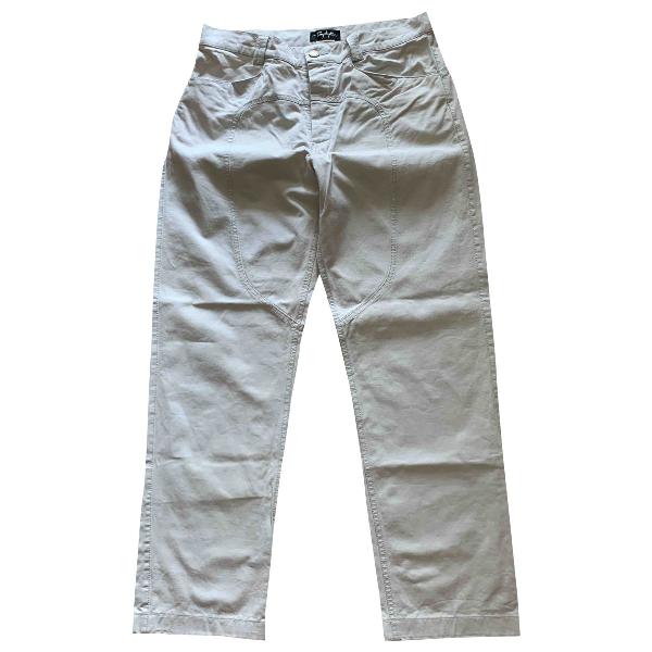 Mugler White Cotton Jeans