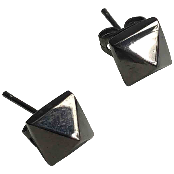Eddie Borgo Black Metal Earrings