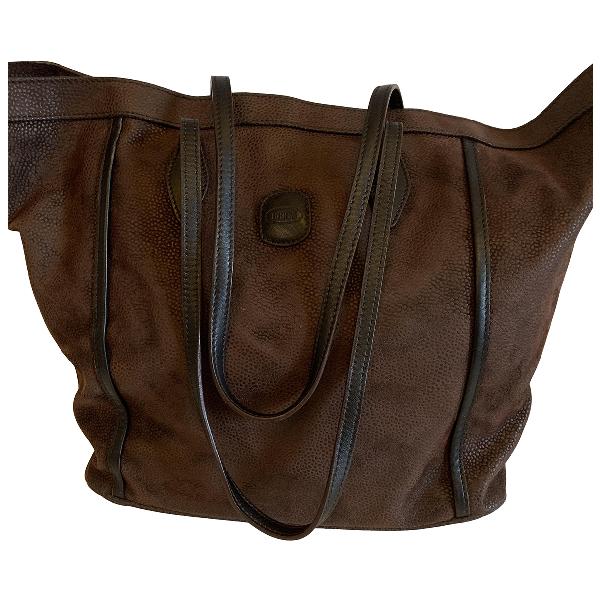 Bric's Brown Suede Handbag
