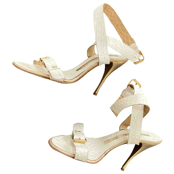 Luis Onofre White Leather Sandals